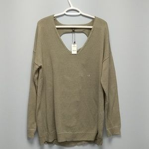 NWT Express Open Back Sweater, size L